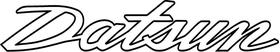 Datsun Lettering Decal / Sticker 08