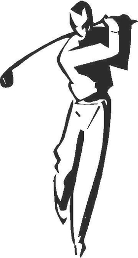 Golfer Golf Decal / Sticker 16