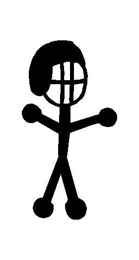Football Player Stick Figure Decal / Sticker