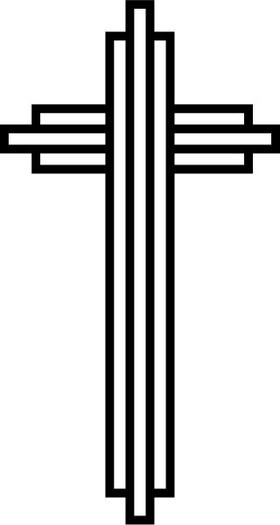Christian Cross Decal / Sticker 73
