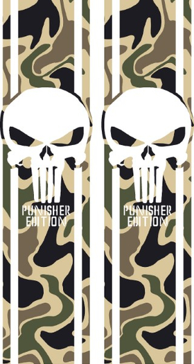 Camo Punisher Edition Truck Bed Stripes Decals / Stickers 11