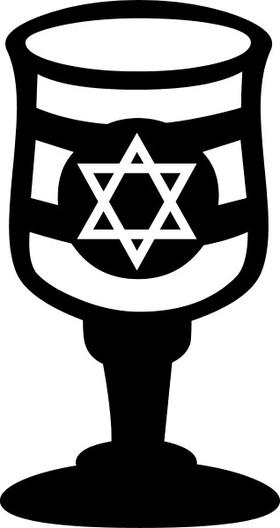 Jewish Star of David Glass Decal / Sticker 06