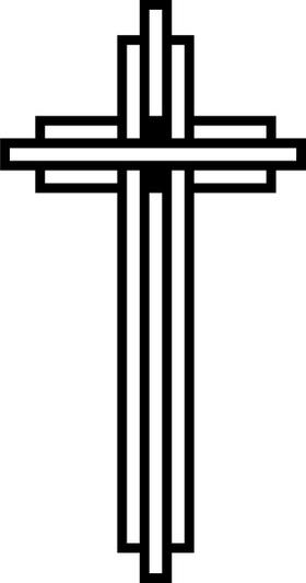 Christian Cross Decal / Sticker 74