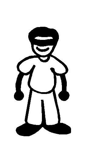Sunglasses Guy Stick Figure Decal / Sticker