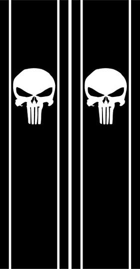 Punisher Truck Bed Stripes Decals / Stickers 02