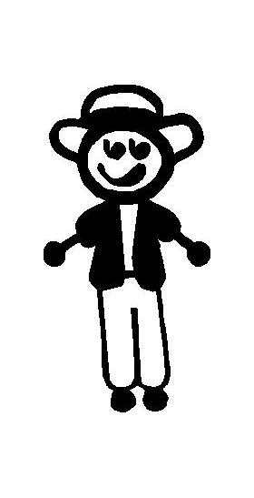 Casual Guy Stick Figure Decal / Sticker