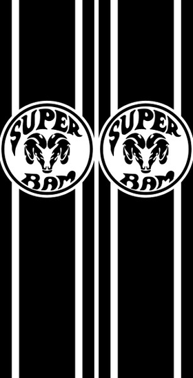 Super Ram Truck Bed Stripes Decals / Stickers 08