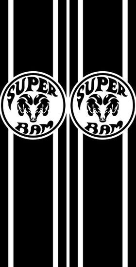 Super Ram Truck Bed Stripes Decals / Stickers 08