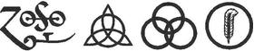 Led Zeppelin ZOSO Decal / Sticker