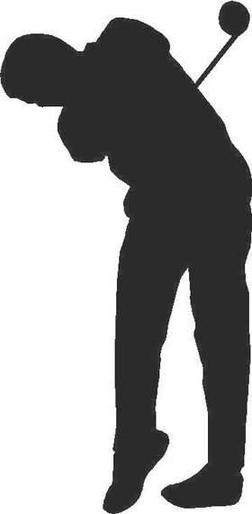 Golfer Golf Decal / Sticker 13