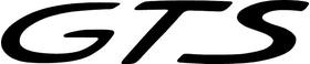 Porsche GTS Lettering Decal / Sticker 01