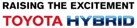 Toyota Hybrid Decal / Sticker 01