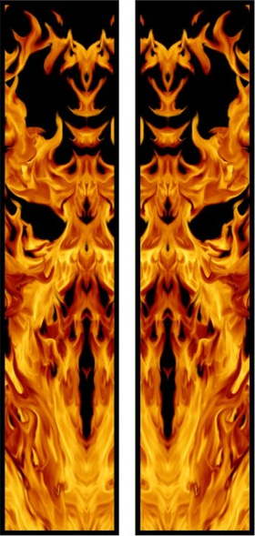 z 10 Inch Dual True Fire Racing Stripe Decal / Sticker 23