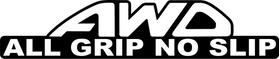 AWD All Wheel Drive All Grip No Slip Decal / Sticker 09
