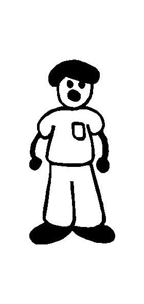 T-shirt Guy Stick Figure Decal / Sticker