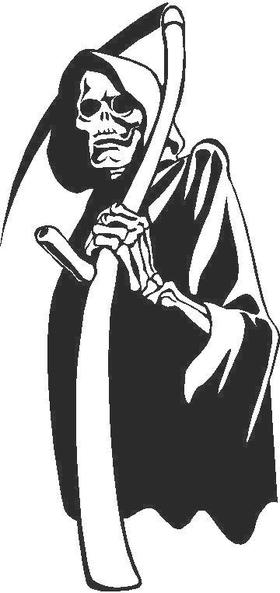 Grim Reaper Design Decal / Sticker Design 1