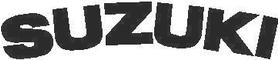 Curved Suzuki Lettering 04 Decal / Sticker