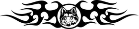 Wolf Tribal Decal / Sticker 100