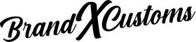 Brand X Customs Decal / Sticker 01