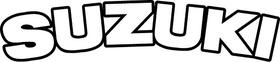 Curved Suzuki Lettering Decal / Sticker 09