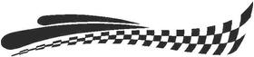 Checkered Flag Decal / Sticker 56
