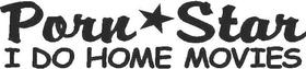 Porn Star Home Movies Decal / Sticker