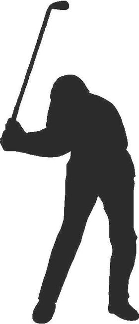 Golfer Golf Decal / Sticker 11
