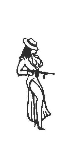 Sexy Girl with Gun Decal / Sticker