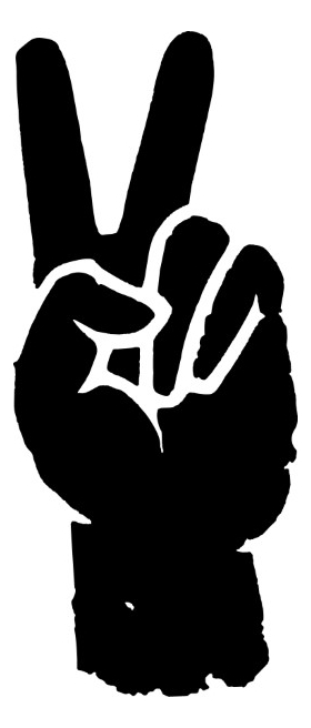 Peace Fingers Decal / Sticker 01