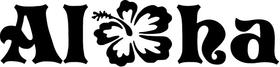Aloha Flower Decal / Sticker 05