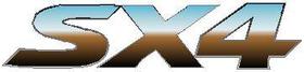 Suzuki SX4 Simulated Chrome Decal / Sticker