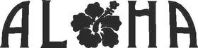 Aloha Flower Decal / Sticker