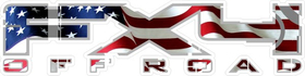 Z American Flag FX4 Off-Road Decal / Sticker 05