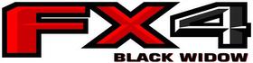 Z FX4 Black Widow Decal / Sticker 27