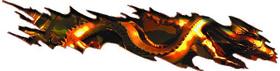 Gold/Orange Torn Dragon Graphic Decal / Sticker