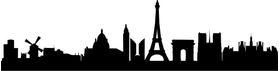 Paris Skyline Silhouette Decal / Sticker 01