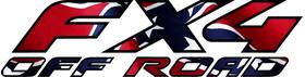 Z Confederate - Rebel Flag FX4 Off-Road Decal / Sticker 12