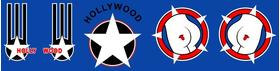Top Gun Hollywood Helmet Decal / Sticker Set 01