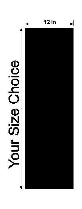 z 12 Inch Italian Flag Single Racing Stripe Decal / Sticker
