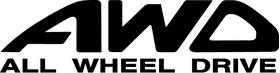 AWD All Wheel Drive Decal / Sticker 02