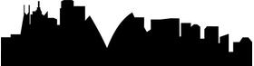 Sydney Skyline Silhouette Decal / Sticker 01