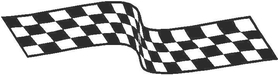 Checkered Flag Decal / Sticker 63