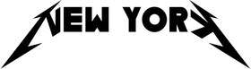 New York Metallica Decal / Sticker 04
