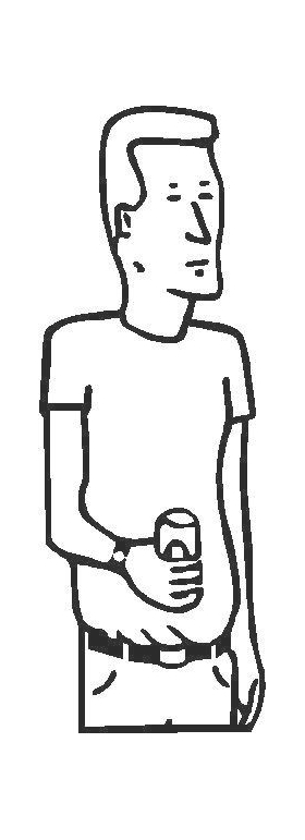 Boomhauer King of the Hill Decal / Sticker