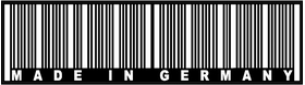 Made In Germany Barcode Decal / Sticker