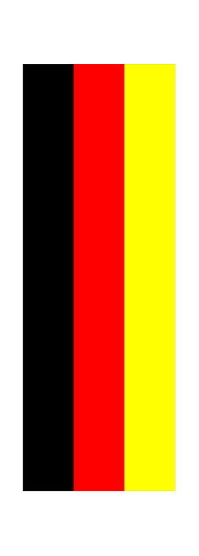 z 12 Inch German Flag Single Racing Stripe Decal / Sticker 01