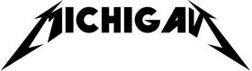 Michigan Metallica Decal / Sticker 01