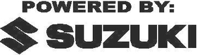 Powered By Suzuki Decal / Sticker