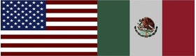 American Mexican Flag Decal / Sticker 03