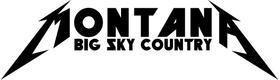 Montana Metallica Big Sky Country Decal / Sticker 02